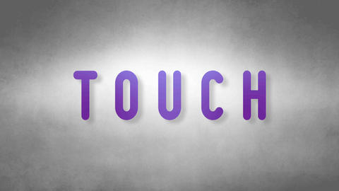 Touch headband. Text from sand. With black background Animation
