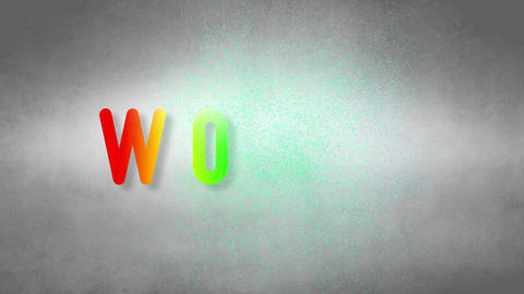Words headband. Text from sand. With black background Stock Video Footage