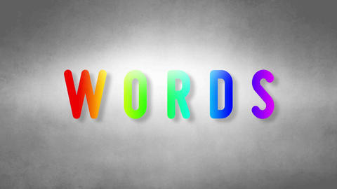 Words headband. Text from sand. With black background Animation