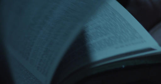 Book's Pages Turning, Macro, Close Up, Slow Motion. Reading a Book, Flipping Pag Footage