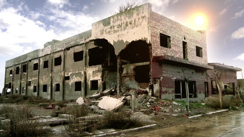 Hotel Destroyed In The Ghost Town Epecuen Footage