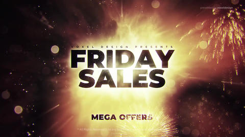 Friday Mega Sales Opener After Effects Template