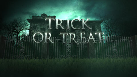 Animation text trick or treat and mystical animation halloween background 5 Live Action