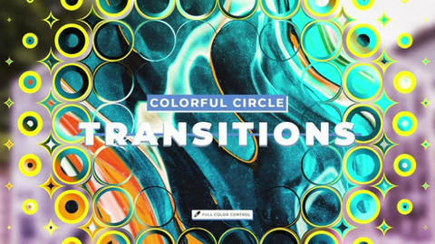 Colorful Circle Transitions Apple Motion Template