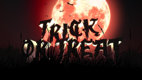 Animation text trick or treat and mystical animation halloween background Live Action