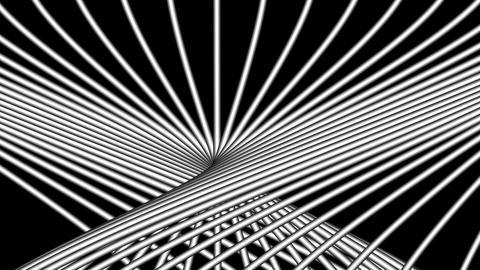 Moving metallic bars Animation