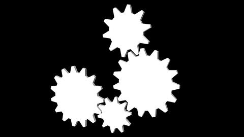 Gear 1Gear - Cogwheel, rotating machine Stock Video Footage