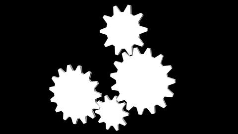 Gear 1Gear - Cogwheel, rotating machine CG動画素材