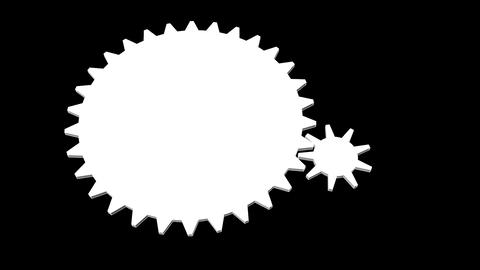 Gear - Cogwheel, rotating machine Animation