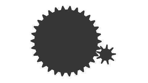 Gear icon simple Animation