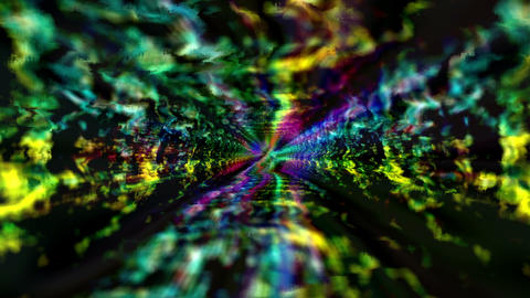 Digital Information Distortion Matrix Damaged Running Tunnel Animation