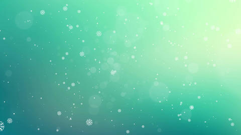 Christmas Torquise Background 4K Animation
