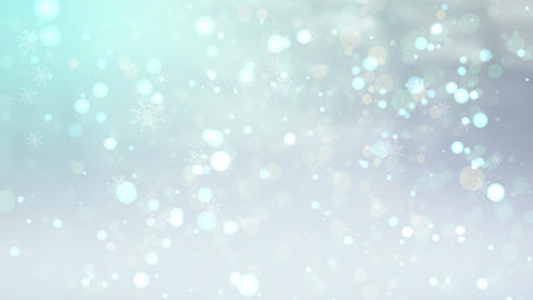 Winter Bokeh CG動画素材