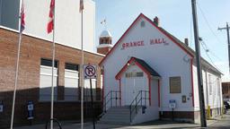 Orange Hall on 104 street 84 ave in Edmonton, Alberta Live Action