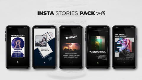 Insta Stories Pack v 6 After Effects Template