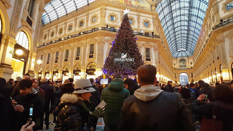 Christmas in Milan/Italy - December 2016 afternoon Footage