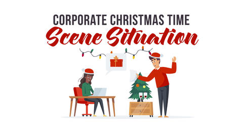 Corporate Christmas time - Scene Situation After Effects Template