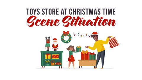 Toys store at Christmas time - Scene Situation After Effects Template