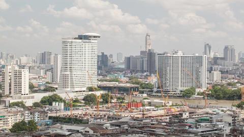 Time lapse shot of construction area, Bangkok, Thailand Footage