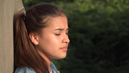 Teen Girl Listening And Nodding Live Action