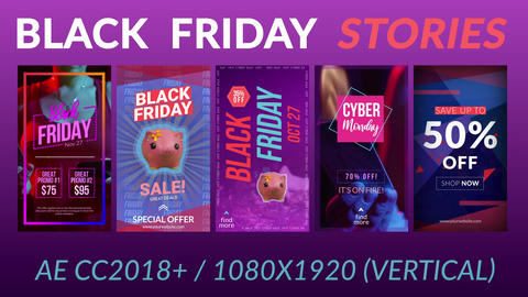 Black Friday Stories After Effects Template