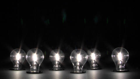 Light bulbs dim and shut off Stock Video Footage