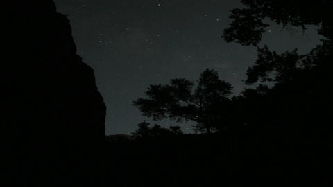 Stars move across the night sky Stock Video Footage