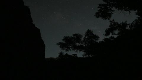 Stars move across the night sky Stock Video Footage