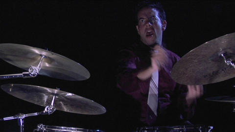 A musician plays the drums Stock Video Footage