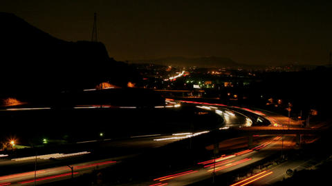 Traffic speeds along a freeway Stock Video Footage