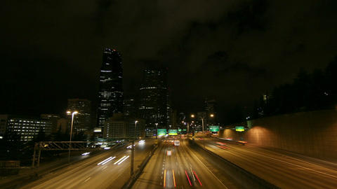 A beautiful shot of time lapsed freeway traffic in a... Stock Video Footage