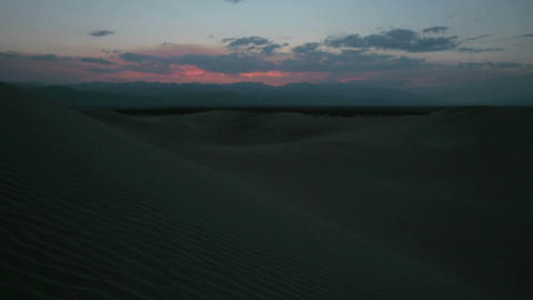 Time lapse dawn over beautiful sand dunes at White Sands... Stock Video Footage