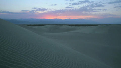 Time lapse dawn over beautiful sand dunes at White Sands National Monument Footage