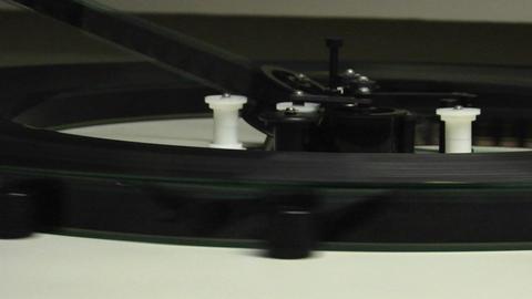 Film runs through a projector Footage