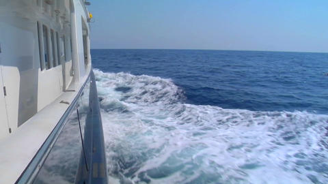 The wake of a ship on the high seas Stock Video Footage