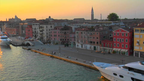 Beautiful Arial view of Venice, Italy Stock Video Footage