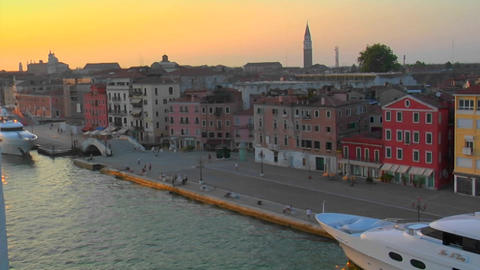 Beautiful Arial view of Venice, Italy Footage