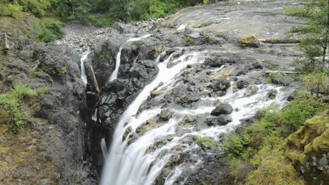 Tilt down time lapse of Englishman River Falls Provincial... Stock Video Footage