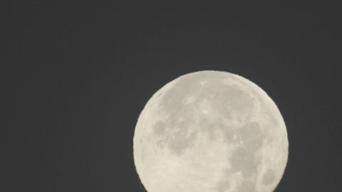 Close-up time lapse of full moon setting in Oak View,... Stock Video Footage
