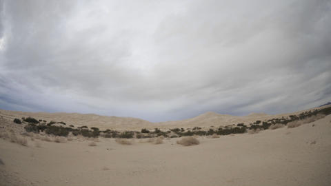 Time lapse of day to night at Kelso Dunes in Mojave... Stock Video Footage