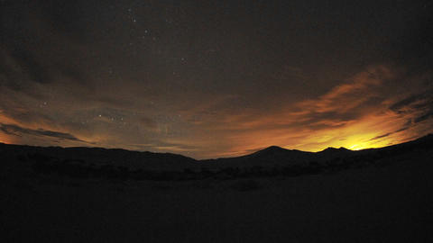 Time lapse of day to night at Kelso Dunes in Mojave National Park, California Footage