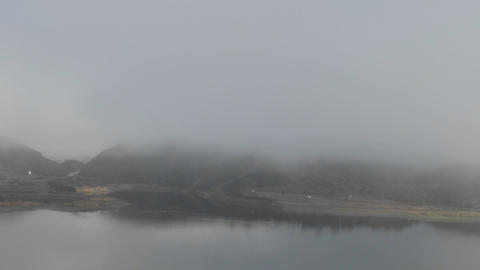 Time lapse of fog and clouds over Lake Casitas in Oak... Stock Video Footage