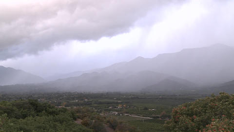 Time lapse of a snowstorm blowing over the Ojai Valley,... Stock Video Footage