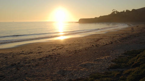 Time lapse of sun setting over the Pacific Ocean at... Stock Video Footage
