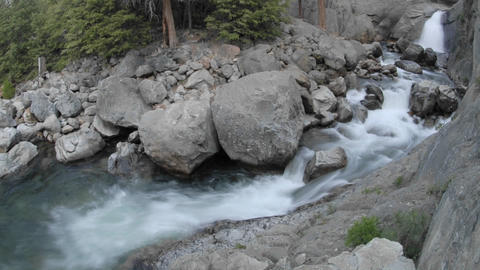 Wide time lapse of Roaring River Falls in Kings Canyon National Park, California Footage