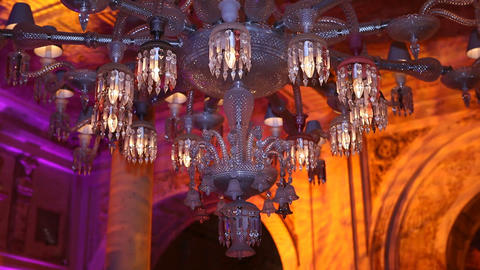 chandelier and shade Stock Video Footage
