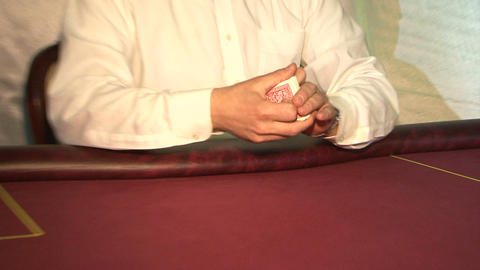 Poker 01 stock footage