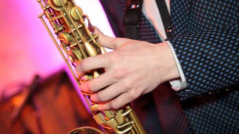 saxophone 02 Stock Video Footage