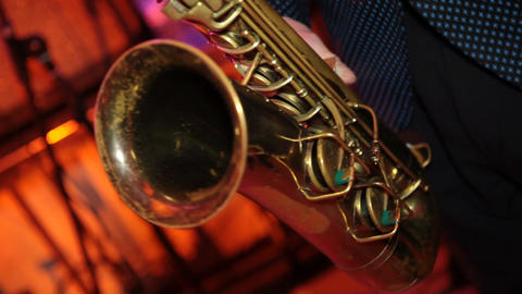saxophone 02 Stock Video Footage