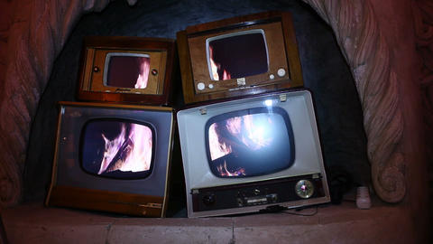 tv interior Stock Video Footage